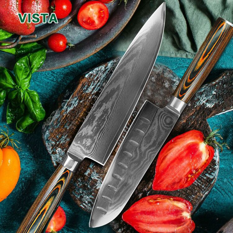 Damascus Messen DV8 67 Layer Koksmes Japanse Keuken Mes Damascus Roestvrijstalen Messen Ultra Sharp Micarta Handvat