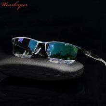 Wearkaper nova transição óculos de leitura fotochromic óculos de sol homem liga titânio quadro presbiopia eyewear com caso