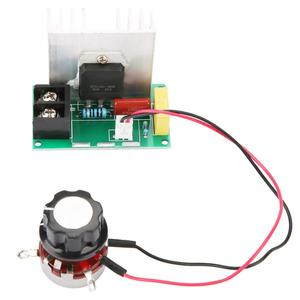 8000 Вт регулятор напряжения высокая мощность SCR двигатель регулятор скорости вентилятора диммеры затемнения Термостат с потенциометром пер...