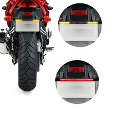 2in1 Motorcycle LED Turn Signal Lamp Amber Flowing Indicator Lights Red Brake