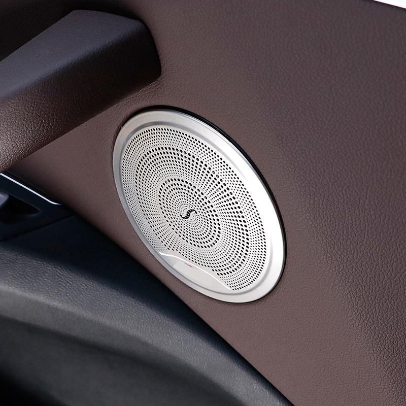 Для BMW X3 G01 X4 G02 2017 2018 2019 Громкий динамик для автомобильной двери хромированная колонка крышка для динамика отделка рамка наклейка аксессуары...