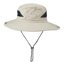 Men Hats Bucket-Hat Sun-Caps Wide-Brim Outdoor Hiking Beach Women Summer Anti-Uv New