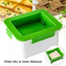 K/üchenger/äte zum Entfernen von Wasser aus dem Tofu f/ür schmackhafter Poweka Tofu Presse Abflussbox Kunststoffsiebbecken Tofu Maschine