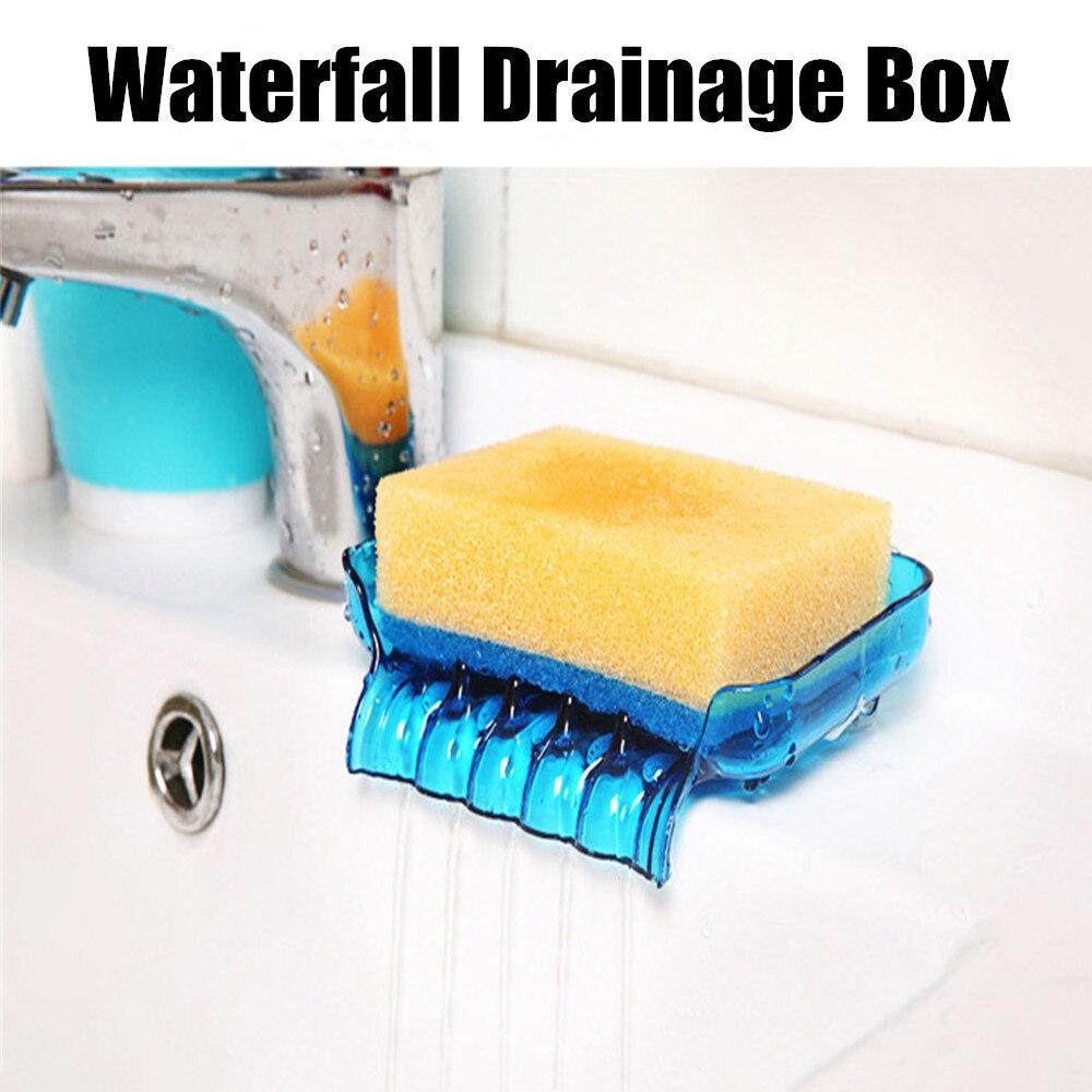 Kitchen Bathroom Accessories Soap Box Bathroom Draining Soap Box Kitchen Sink Sponge Drainage Soap Dish