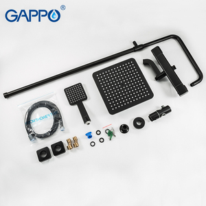 Image 5 - GAPPO thermostatic shower system hot cold mixer bathroom shower Brass faucet Bathtub shower set thermostatic mixer black faucet