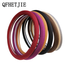 Car Steering Wheel Cover 38CM 7-color Linen Breathable Four Seasons Universal Non-slip Car Grip Cover Car Accessories