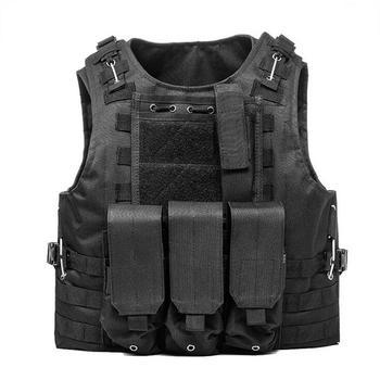 USMC Airsoft Military Tactical Vest Molle Combat Assault Plate Carrier Tactical Vest 7 Colors CS Outdoor Clothing Hunting Vest 14