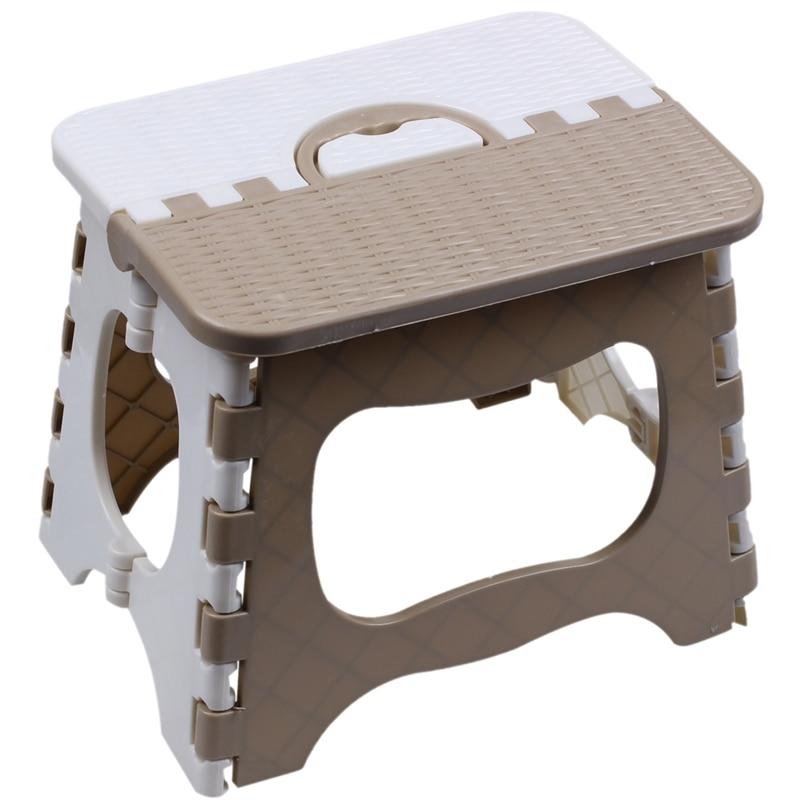 Hot XD-Plastic Folding 6 Type Thicken Step Portable Child Stools (Green Gray Color Random) 25*18*20cm