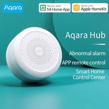 Aqara akıllı Hub ağ geçidi 3 Zigbee sürümü kapı pencere sıcaklık nem sensörü ile çalışmak Xiaomi Mi ev veya Apple Homekit APP