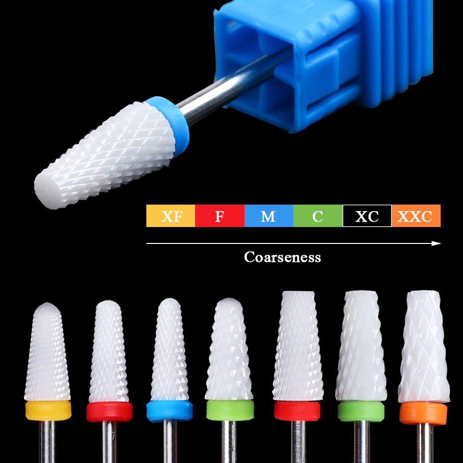 16 Type Ceramic Nail Drill Bit Electric Milling Cutters For Manicure Drill Burr Head Ceramics Nails Remover Accessory BETP01-16