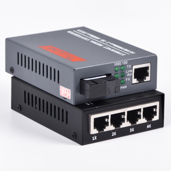 1 pair 10/100/1000Mbps Gigabit Ethernet Media Converter 1 port RJ45 1 port SC + 4 port RJ45 1 port SC Single Mode Optic Fiber pca 6006 rev a1 belt ethernet port 100% tested perfect