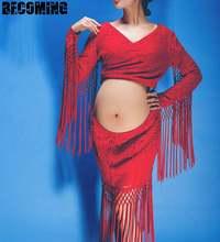 Кружевное платье для беременных фотосессии большое одежда макси