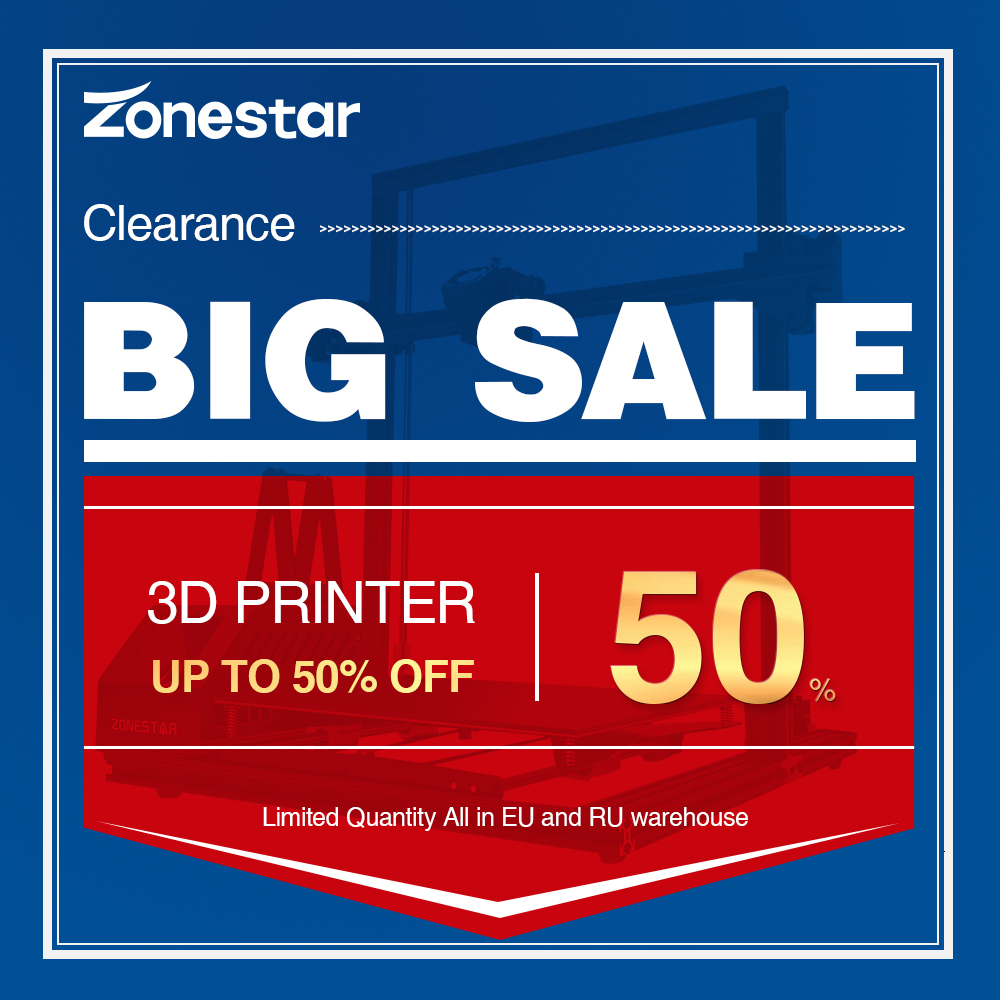Big Sale ZONESTAR Factory Clearance 3D Printer DIY Kit Free Shipping From EU and Russia|3D Printers| |  - title=