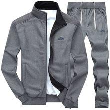 Chandal-Conjunto de ropa de 2 piezas para Hombre, chaqueta con cremallera y pantalones de chándal, otoño e invierno, # g39, 2021