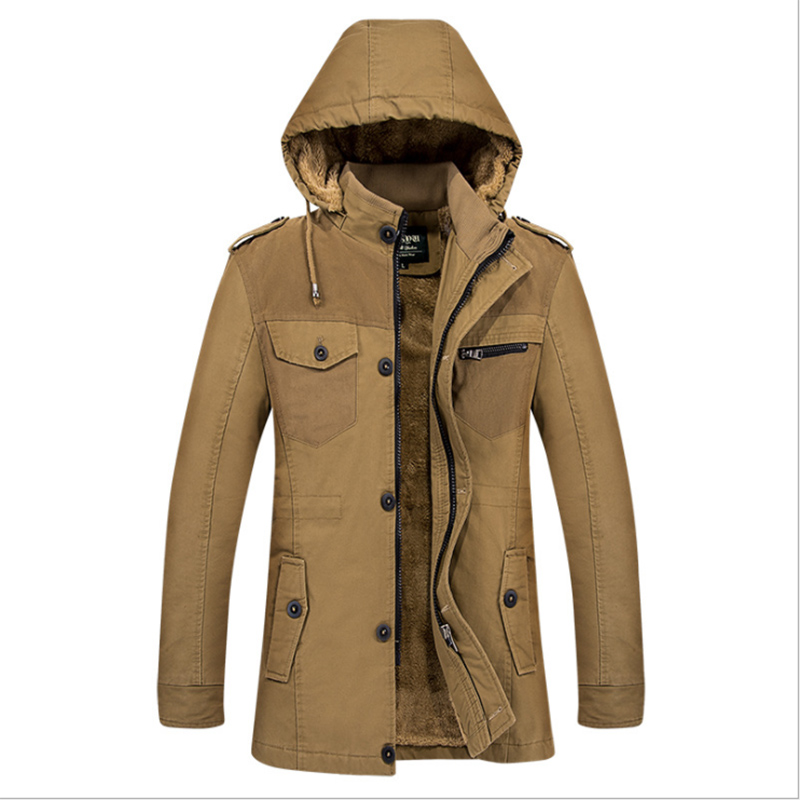 New Men 39 s Winter Tactical Hooded Fleece Jackets Coats Male Thicken Warm Cotton Padded Jackets Men 39 s Hooded Windbreaker Parka 3XL in Jackets from Men 39 s Clothing