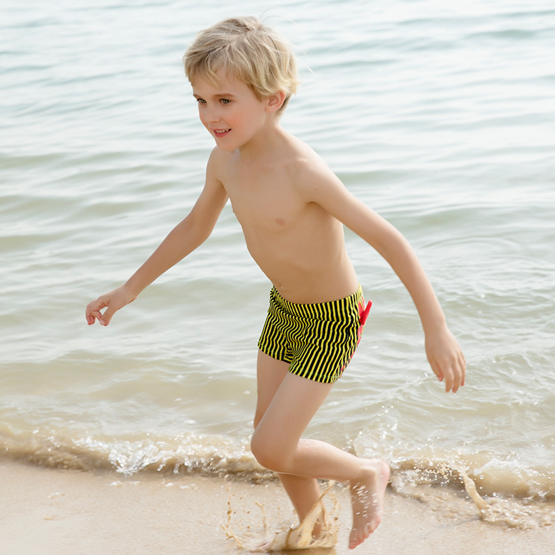 CHILDREN'S Swimming Trunks BOY'S Boxer Swimming Trunks Big Boy Cartoon Swimwear Infants Baby Two-piece Swimsuits With Swim Cap