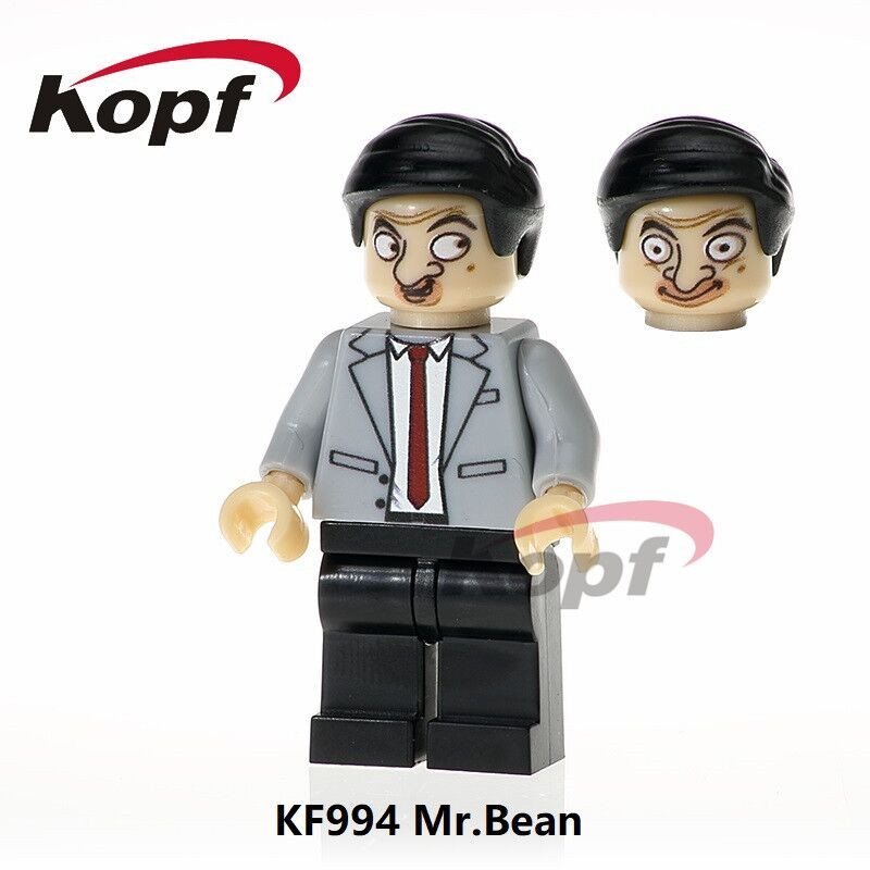 Super Heroes Single Sale Mr. Bean Rick Morty David Beckham Cartoon Character Building Blocks Education Toys For Children KF994