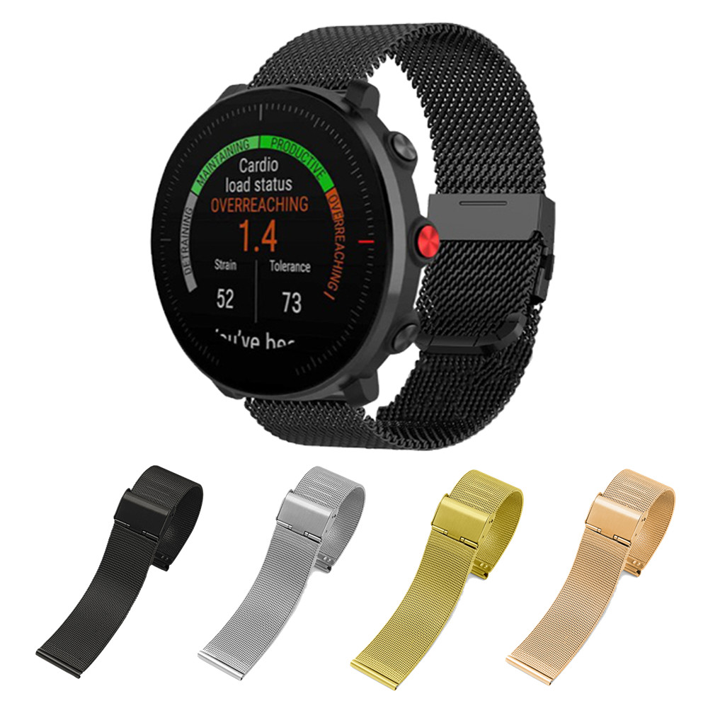 Milanese Metal Band For Polar Vantage M For Polar Ignite Smart Watch Band Wrist Strap For Amazfit BIP GTR GTS 20/22mm Bracelet