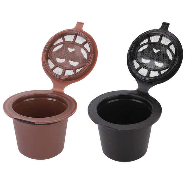 3Pcs Reusable Coffee Capsules Filter Refillable Capsules Cup Fit for Nespresso Capsule Coffee Machine