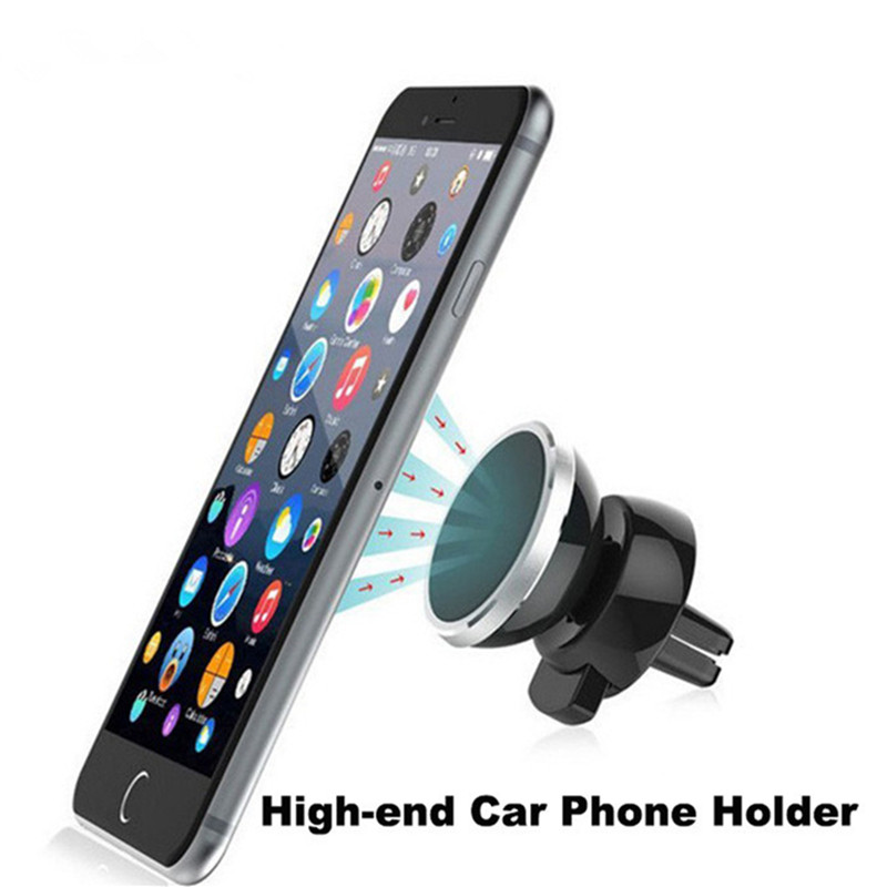 Car Phone Holder Magnet gadget auto smart Vent Outlet Rotatable Mount Magnetic Phone Mobile Holder Universal For iphone 6s