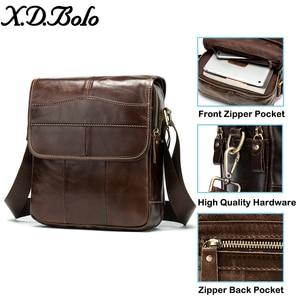 X. D. BOLO, кожаная сумка через плечо, мужская сумка-мессенджер из натуральной кожи, мужская сумка в винтажном стиле на молнии, сумки через плечо ...