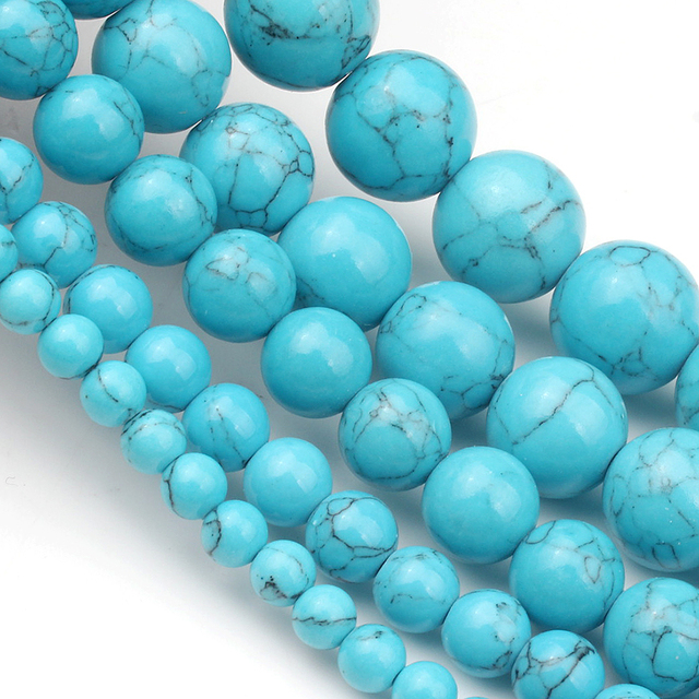 4/6/8/10/12mm Natural Turquoises Bead 3
