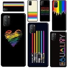 Coque de téléphone pour Xiaomi Mi 11 A1 A2 A3 10T 9T Pro Mi Note 10 Lite, logo Gay Pride arc-en-ciel, pour POCO F3 M3 X3