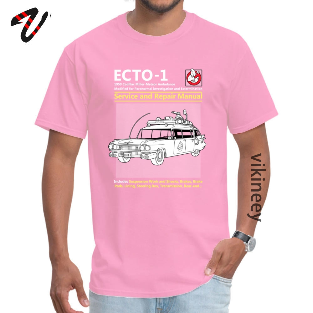 ECTO_Service_ Tshirts Normal Short Sleeve Brand Round Neck 100% Cotton Tops & Tees Crazy Tops Tees for Men Summer/Autumn ECTO-1_Service_4165 pink