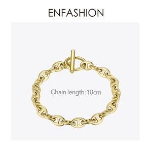 Image 3 - ENFASHION גיאומטרי חלול צמיד Femme זהב צבע נירוסטה פאנק צמידי נשים תכשיטים חברים מתנה B2046