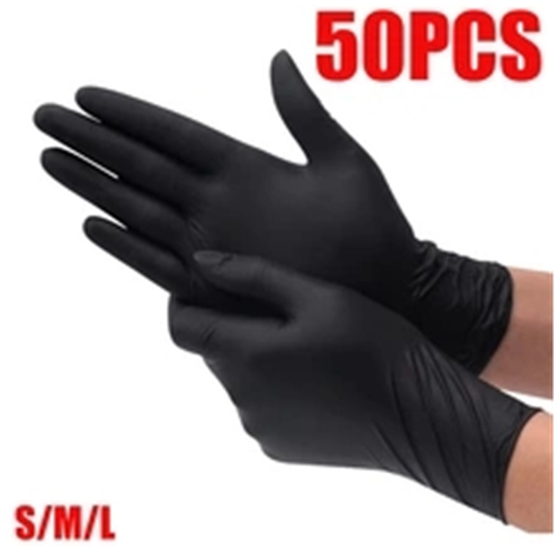 100pcs Wear-resistant And Durable Disposable Nitrile Gloves Gant Latex Latex Food Medical Household Anti-static Cleaning Gloves