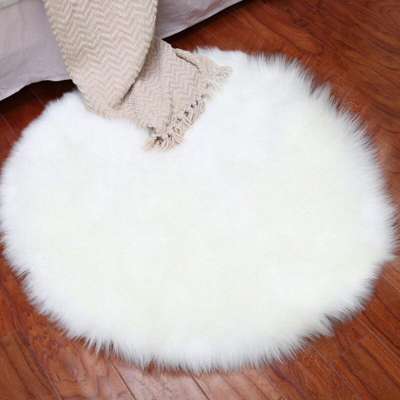 New Fluffy Sheep Skin Rug Soft Faux Fur Fake Mats Bedroom Rugs Carpet 35cm