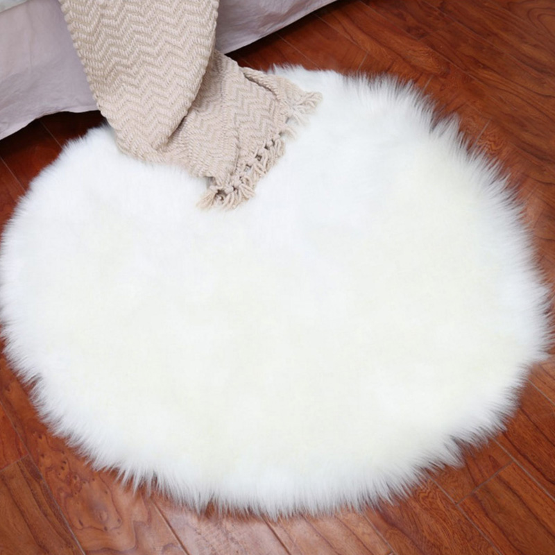 Super Soft Fluffy Shaggy Home Decor Faux Sheep Skin Silky Rug Seat Pad Couch Pad