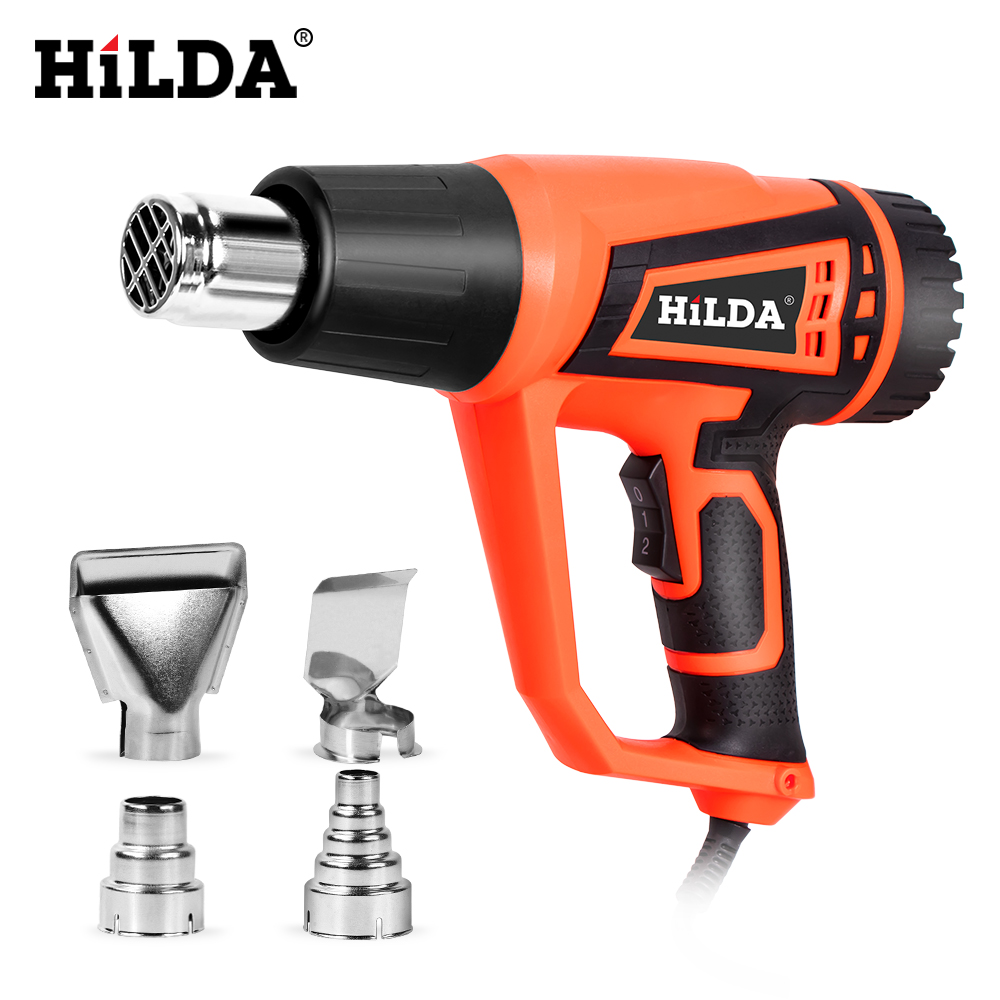 HILDA 2500W Heat Gun With Adjustable 2 Temperatures Advanced Electric Hot Air Gun 220V Power Tool
