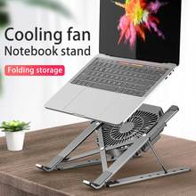 Laptop Stand for MacBook Air Pro Notebook Laptop Stand Bracket With Cooling Fan Foldable Aluminium Alloy Laptop for PC Notebook