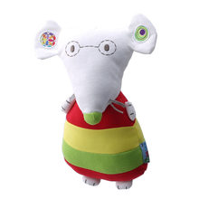 Hot Sale High Quality Cute Jingle Glasses Mouse Appease Doll With Rattle Baby Comfort Doll With Plush Toy Rammelaars Sonajas(China)