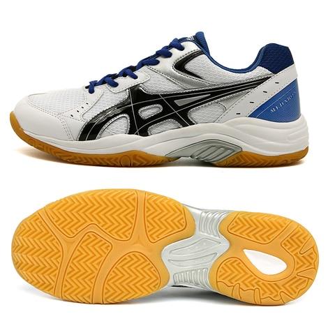 Marca para Mulheres dos Homens Tênis de Luxo Nova Voleibol Sapatos Anti Deslizamento Tênis Tamanho Grande 36-45 Respirável Badminton 2020 Luz