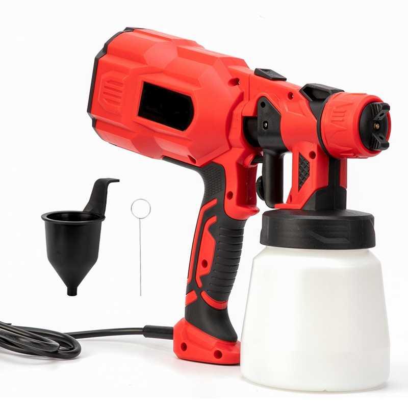PISTOLA DE PULVERIZACIÓN de mano rociadores de pintura 220V 550W de alta potencia para el hogar aerógrafo eléctrico fácil pulverización limpio perfecto para principiantes
