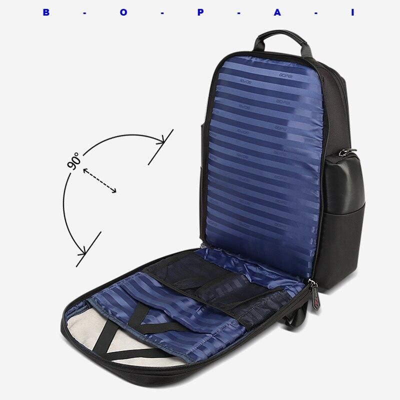 Independente Compartimento Do Saco Do Portátil Dos Homens Mochila de Viagem Saco Mochila de Viagem de Negócios Conveniente Verificação De Segurança para Os Homens mochila - 3