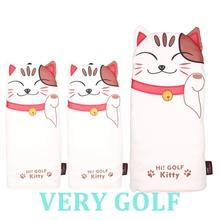 3 шт. Kitty Cat в форме гольф водителя фарватера деревянная крышка для клюшки для гольфа чехол для водителя фарватера леса