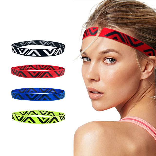 yoga hair bands  Sports Sweat Guide Belt Running Hair Band Basketball Forehead Sweat Absorption Sweat Removal Headband Fitness