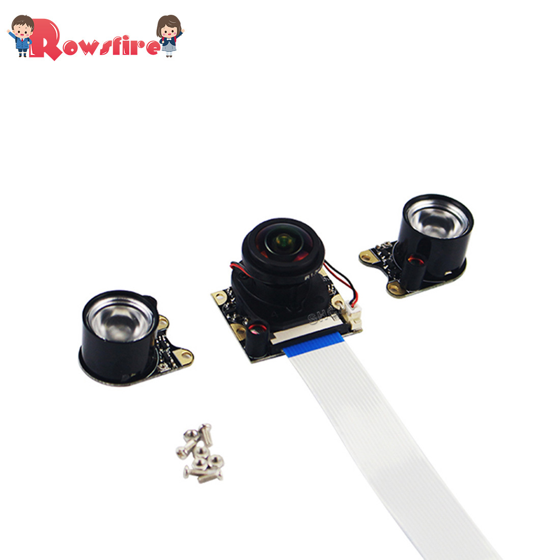 5MP 175 Degree Fish-Eye Wide Angle Camera IR-CUT Auto Switch Day And Night Vision For Raspberry Pi 3B+/3B/2B