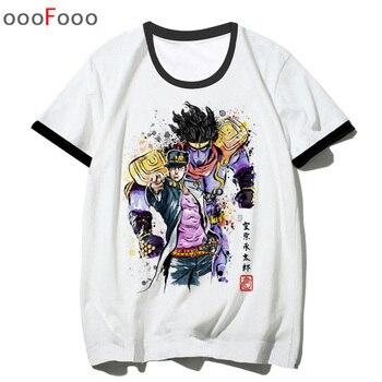JoJo Bizarre Adventure T Shirt T-shirt Fashion Cool Novelty Anime Funny streetwear Men Printed top tee man/male tshirt hip hop