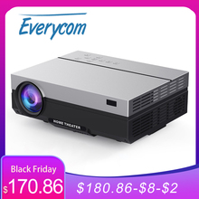 Everycom T26Lโปรเจคเตอร์Full HD 1920X1080Pโปรเจคเตอร์แบบพกพา5500 Lumens HDMI Beamer Proyector LEDโฮมเธียเตอร์ภาพยนตร์