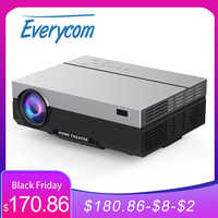 Everycom-Proyector portátil T26L, dispositivo Full HD, 1920x1080P, 5500 lúmenes, HDMI, para cine en casa y películas