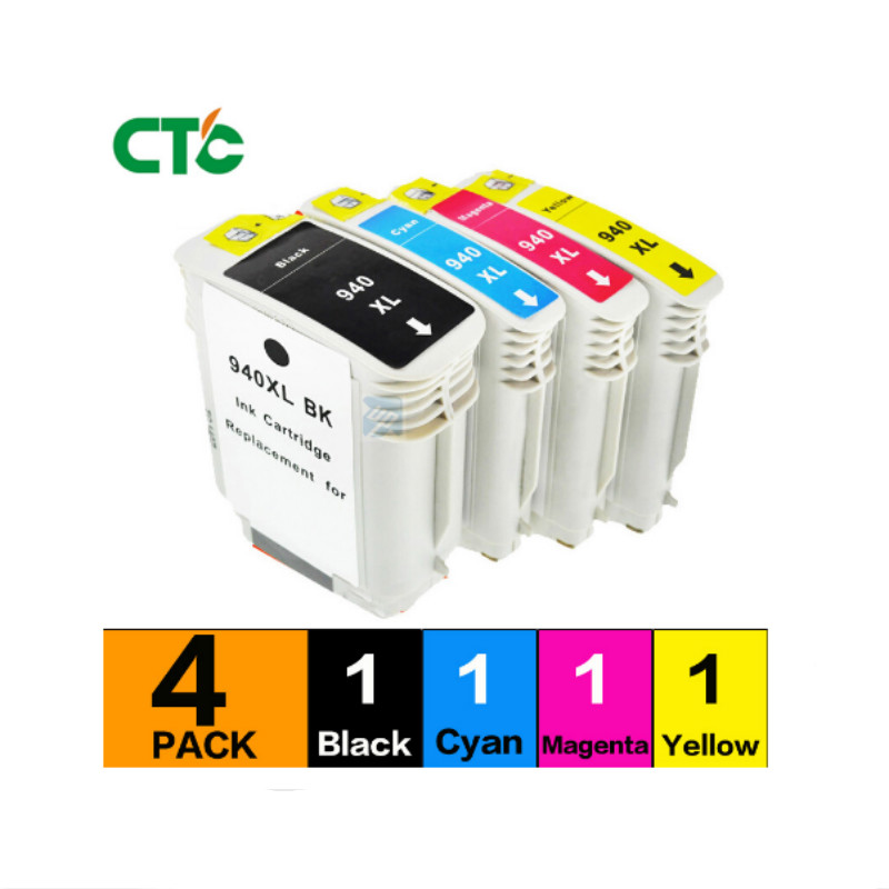 1set 940 Compatible Ink Cartridge For 940 Officejet Pro 8500 8500 8500A Printers <font><b>940XL</b></font> full ink cartridges For 940 XL image