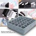 30 сеток нижнее белье носки ящик для хранения шкаф бамбуковый уголь Органайзер коробка DC156