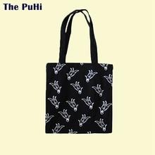 Canvas Bags For Women 2019 Dinosaur Cartoon Print Female Cotton Cloth Shoulder BagCanvas Bag Tote Handbag Canvas Bag With Zipper sweet lemon print and cloth design tote bag for women