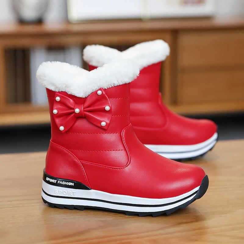 ASUMER 2020 yeni kış kar botları kadın yuvarlak ayak sıcak tutmak yarım çizmeler üzerinde kayma düz platform tutmak sıcak bayan botları büyük boy