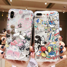 Cute cartoon Mickey Minnie phone case For iphone 11 11pro max 6 6s 7 8 Plus soft silicone cover For iphone X XR XS Max coque for iphone 11 pro max cute pink minnie case for iphone 7 6 6s 8 plus xs max xr x silicone soft phone cover cases back capa coque