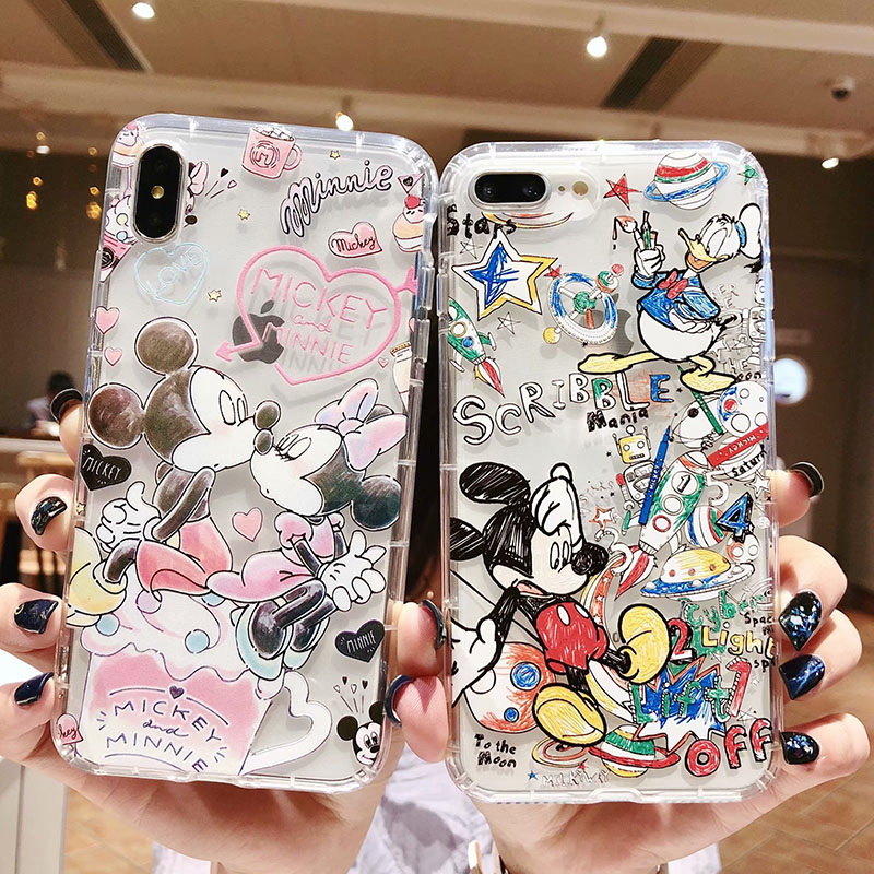 Cute cartoon <font><b>Mickey</b></font> Minnie phone case For <font><b>iphone</b></font> 11 11pro max 6 <font><b>6s</b></font> 7 8 Plus soft silicone cover For <font><b>iphone</b></font> X XR XS Max <font><b>coque</b></font> image